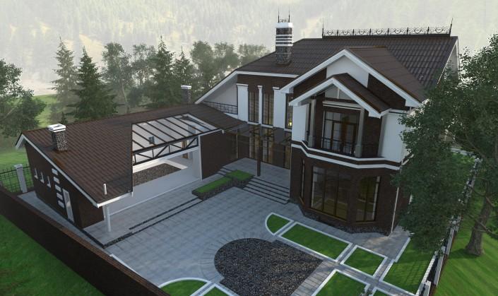 Индивидуальный жилой дом Вид2